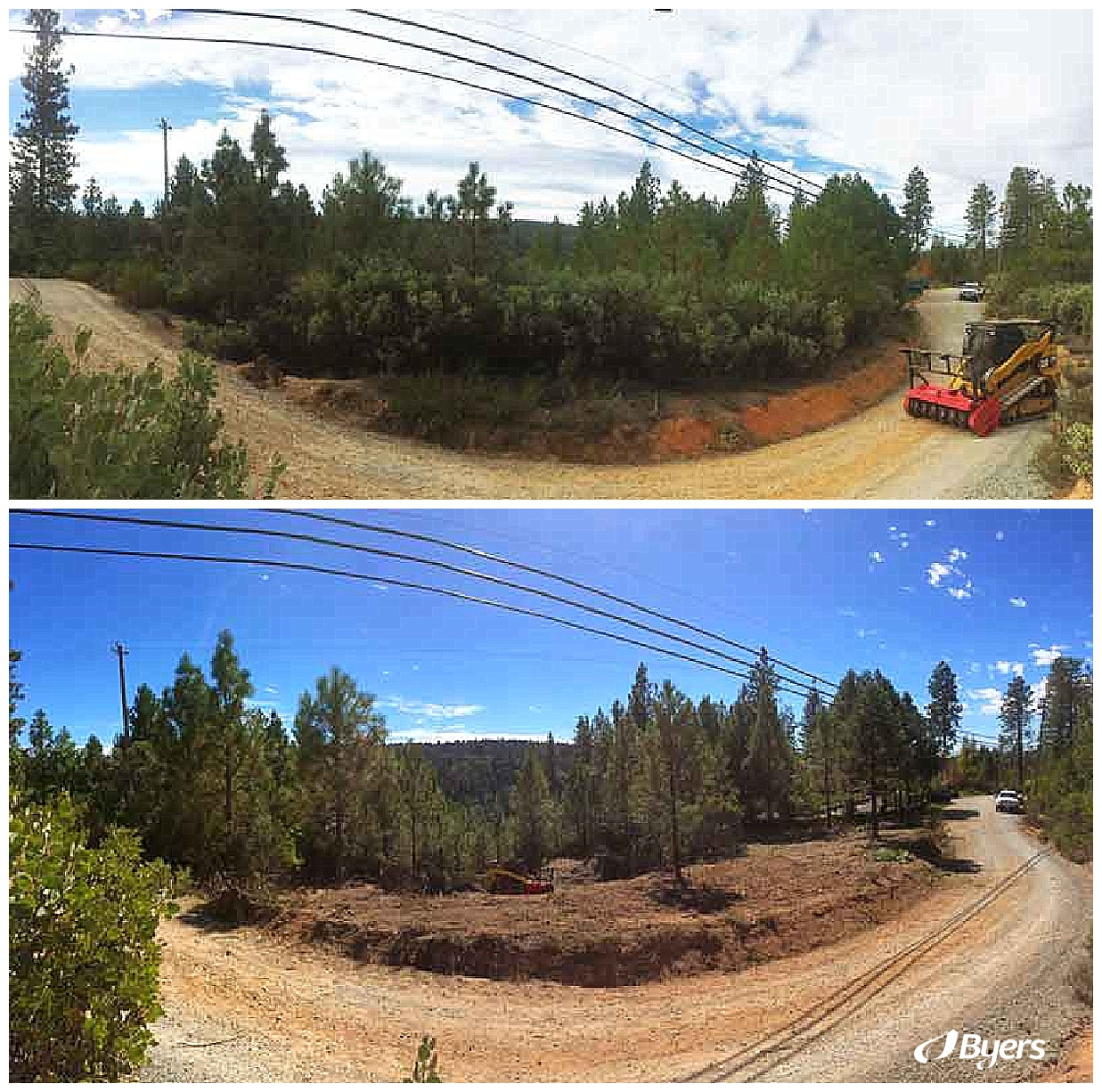 Land Clearing & Wildfire Prevention | Before and After | Defensible space