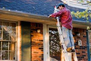 ladder safety cleaning gutters