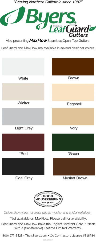 Byers LeafGuard Color Card